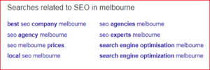 keywords related to seo in melbourne