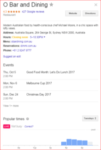 sample restaurant search results
