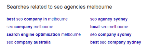 search related to seo melbourne
