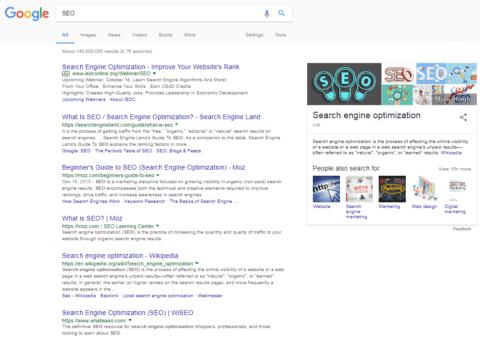 Google SEO SERP image