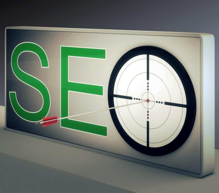 SEO Target with Arrow